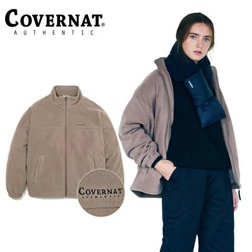 ★100%正版商品★ 韓國直送 COVERNAT是2008年在韓國創立的街頭品牌 超過連續五年MUSINSA STORE第一名暢銷品牌(韓國知名時尚商店) [COVERNAT] 刷毛外套 米色 -溫暖