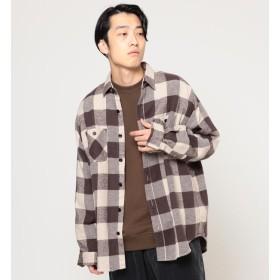 【ビームス メン/BEAMS MEN】 SUGAR CANE × BEAMS / 別注 ブロックチェック ビッグ ワークシャツ