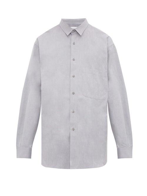 Raey - Batwing-sleeve Cotton Shirt - Mens - Grey
