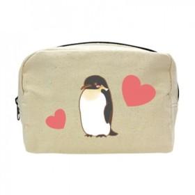 ペンギンさんキャンバスファスナーポーチ(オ)送料無料