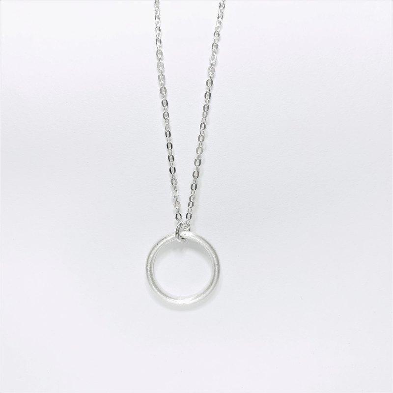 簡約圓圈 小圓圈 純銀項鍊 女朋友禮物 情人節禮物