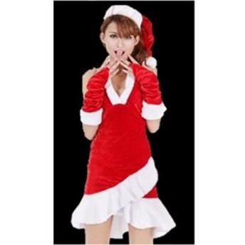 サンタコス 新作 クリスマス衣装 女性 聖夜パーティー レディース  コスチューム サンタクロース衣装 仮装変装 パーティー イベント