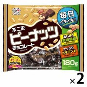 不二家 ピーナッツチョコレート 180g 2袋