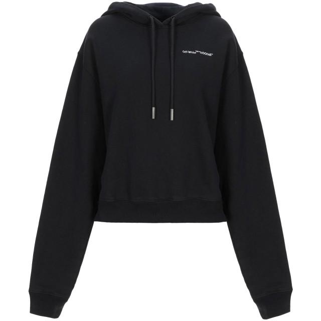 《セール開催中》OFF-WHITE レディース スウェットシャツ ブラック XXS コットン 100% / レーヨン