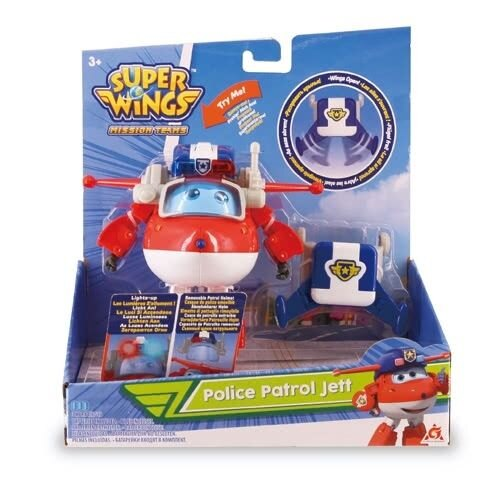 Super Wings 超級遊俠-發光變形巡邏員警隊杰特 AL37609★衛立兒生活館★