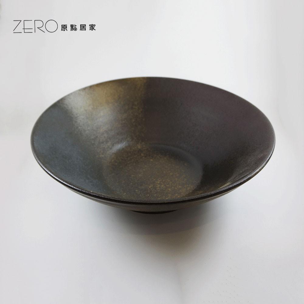 日式笠形陶瓷大花器 超大碗公 陽台花盆 陶瓷花盆花器魚缸 原點居家創意