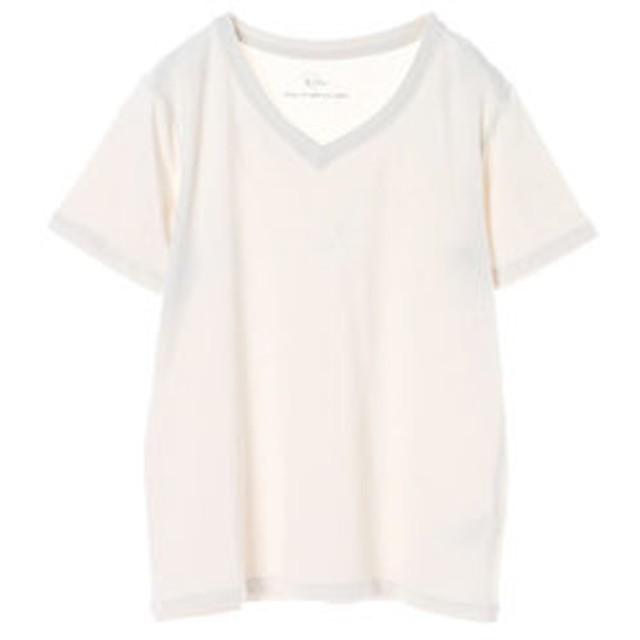 【SALE開催中】【E hyphen world gallery:トップス】VネックTシャツ