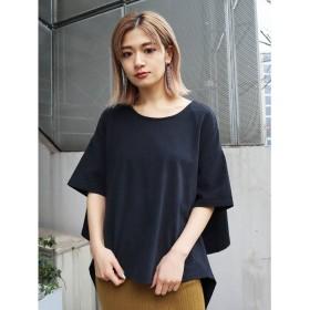 EMODA バックタイオーバーTシャツ(ブラック)