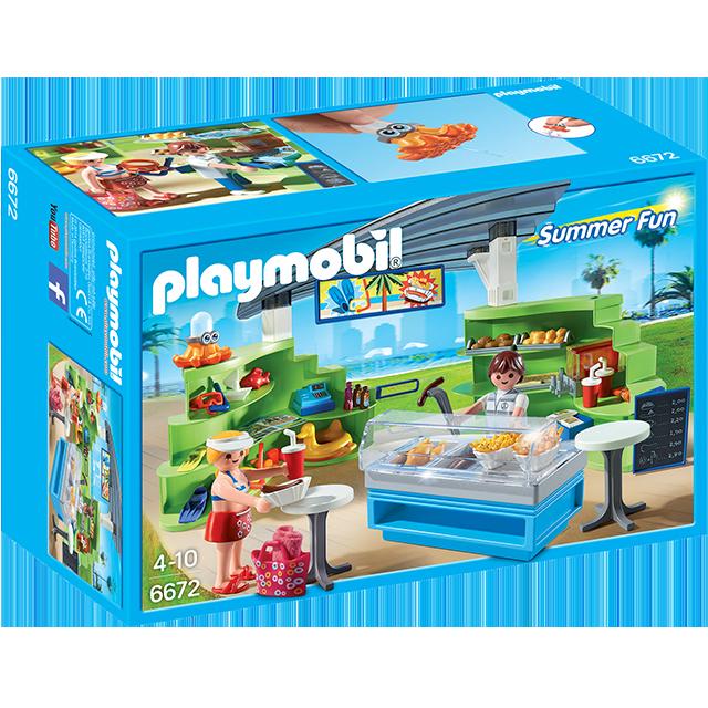 Playmobil 摩比 6672 水上樂園 販賣部