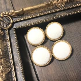 【再販】シンプル ホワイト ◎ アメリカ ヴィンテージボタン