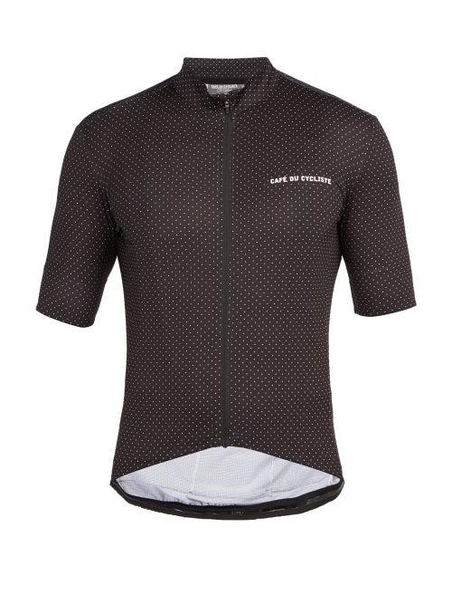 Café Du Cycliste - Fleurette Zipped Technical-jersey Cycling Top - Mens - Black