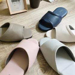 【iSlippers】經典皮質室內拖鞋-舒柔純色(超值6雙組)