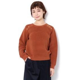 【テチチ/Te chichi】 タック編みボタンプルオーバー LS