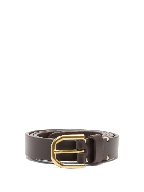 Raey - Slim Bridle-leather Belt - Mens - Brown
