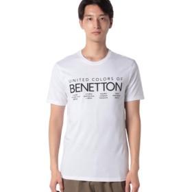【9%OFF】 ベネトン(ユナイテッド カラーズ オブ ベネトン) ロゴTシャツ・カットソー メンズ ホワイト L (国内L相当) 【BENETTON (UNITED COLORS OF BENETTON)】 【タイムセール開催中】