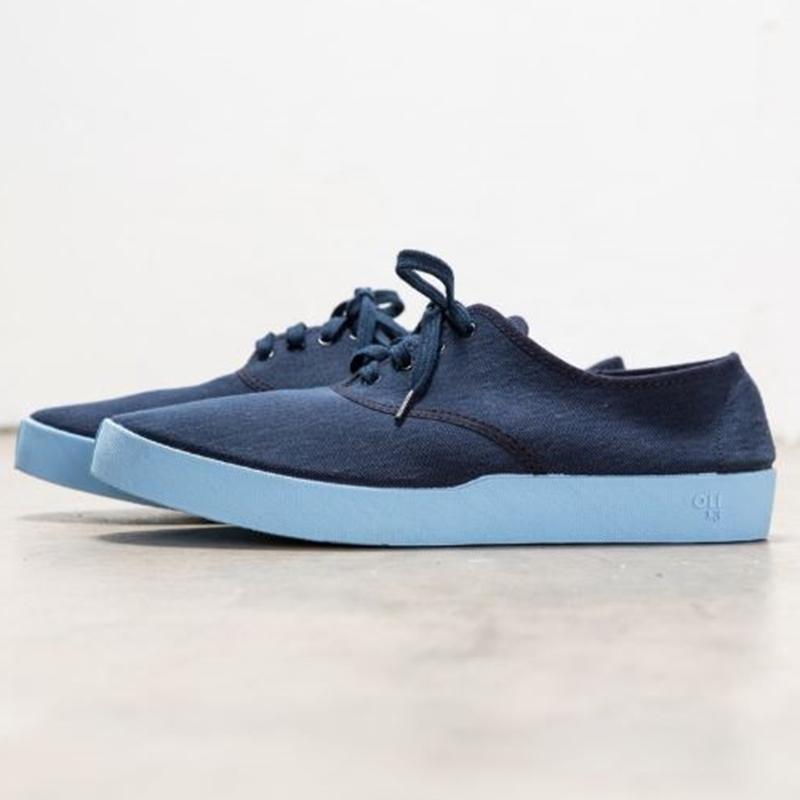 西班牙手工帆布鞋.牛津鞋 - 藍/天空藍 EU 37
