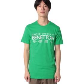 【9%OFF】 ベネトン(ユナイテッド カラーズ オブ ベネトン) ロゴTシャツ・カットソー メンズ グリーン M (国内M相当) 【BENETTON (UNITED COLORS OF BENETTON)】 【タイムセール開催中】