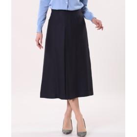 INED 《INED international》《セットアップ対応》ボックスAラインスカート その他 スカート,ネイビー