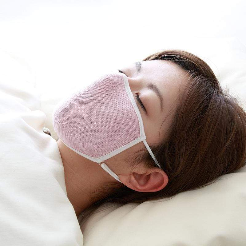 純蠶絲睡眠保濕口罩 粉紅