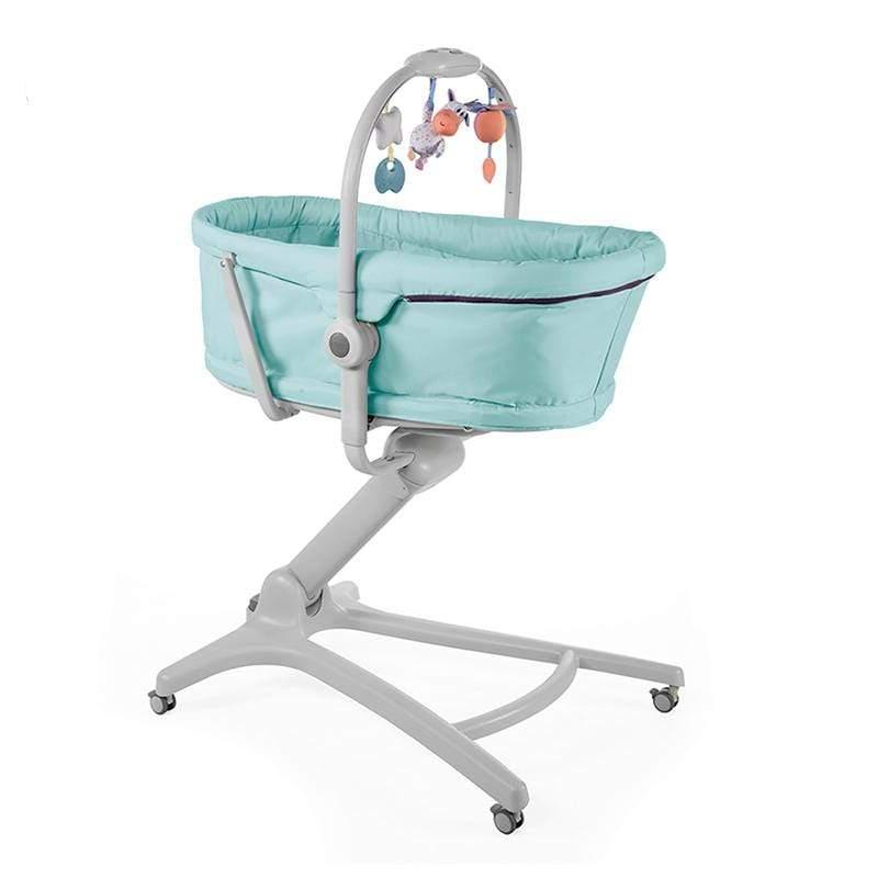 Baby Hug多功能成長安撫嬰兒床-粉彩藍