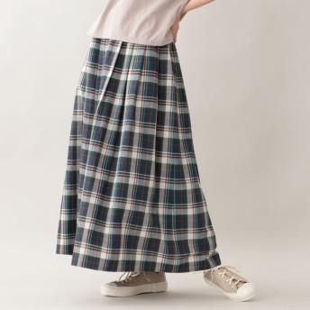 SALE【エムピー ストア(MP STORE)】 マドラスチェックスカート ネイビー