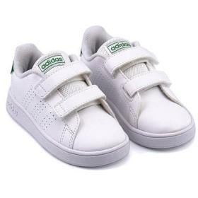 アディダス ベビーシューズ スニーカー 女の子 アドバンコートI ADVANCOURT I adidas EF0301 フットウェアホワイト/グリーン/グレーツー