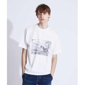 アバハウス フォト半袖Tシャツ メンズ ホワイト 44 【ABAHOUSE】