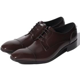 クラウン製靴 ストレートチップシューズ メンズ ダークブラウン 24.5 【CROWN SHOE CO.、LTD.】