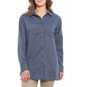 プラーナ prAna レディース チュニック トップス Weathered Blue Aster Tunic Shirt - Hemp. Long Sleeve Weathered Blue