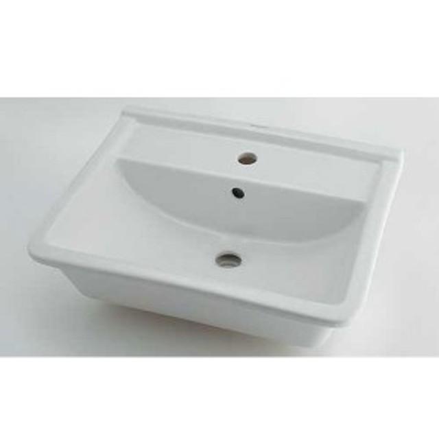 カクダイ DU-0302560000 角型洗面器 1ホール DU0302560000