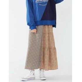 [マルイ]【セール】フラワープリントバックティアードスカート/プードゥドゥ(POU DOU DOU)