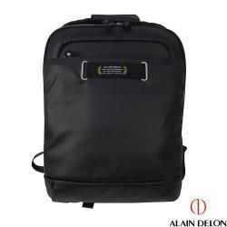ALAIN DELON 防潑水帆布電腦後背包(黑)