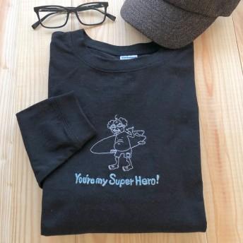 【プチオーダー可】レジェンドサーファーの手刺繍ロングTシャツ