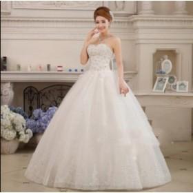 披露宴 レース 安い Aラインワンピース イブニングドレス ロング パーティードレス 結婚式 花嫁 プリンセスライン ウエディングドレス ブ