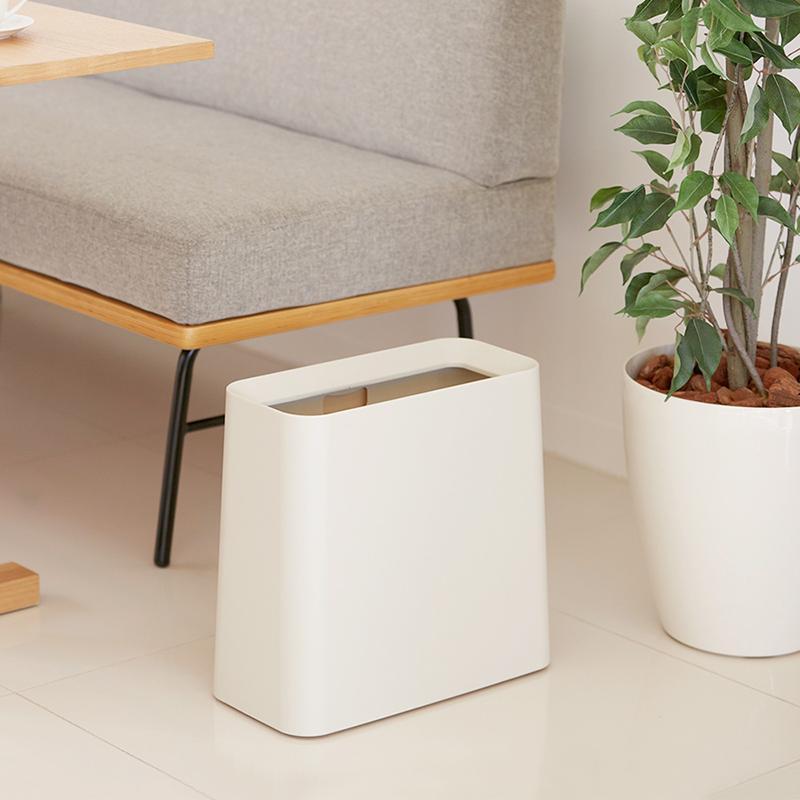 方形家用垃圾桶-11.5L 白