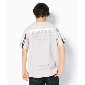 【30%OFF】 アヴィレックス ルーズフィット ストレッチ Tシャツ/LOOSE FIT STRETCH T SHIRT メンズ L/GREY XL 【AVIREX】 【セール開催中】