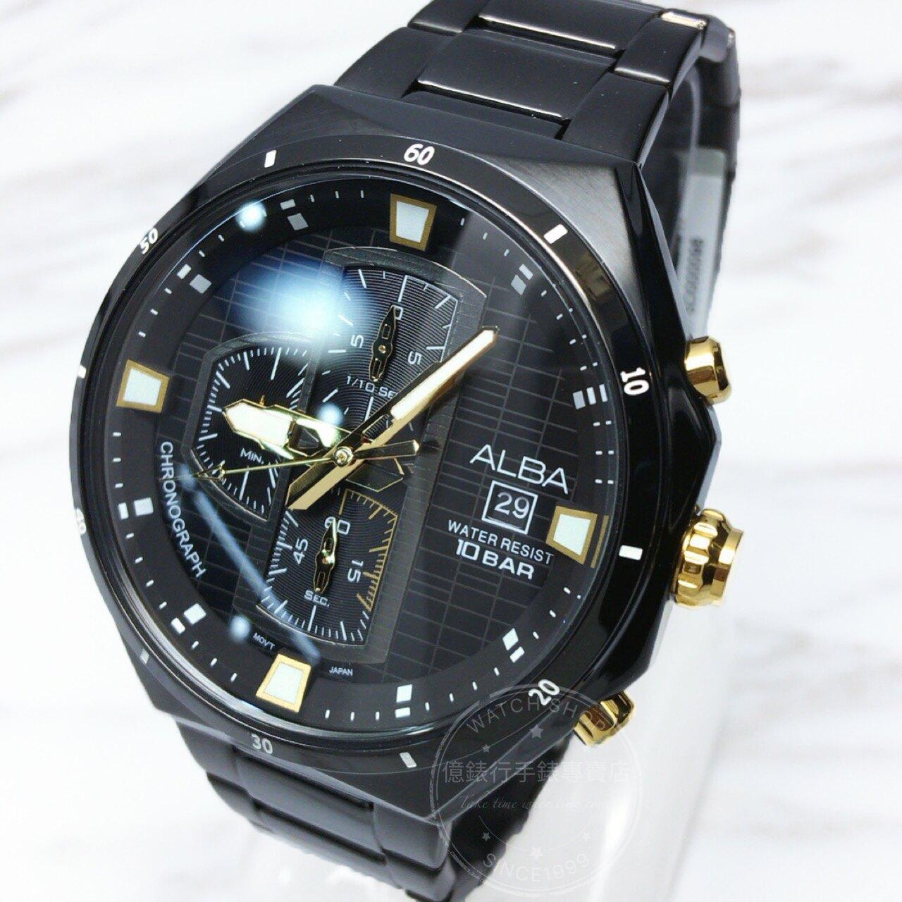 ALBA劉以豪代言聖誕節限定三環計時型男腕錶VD57-X087SD/AM3403X1公司貨