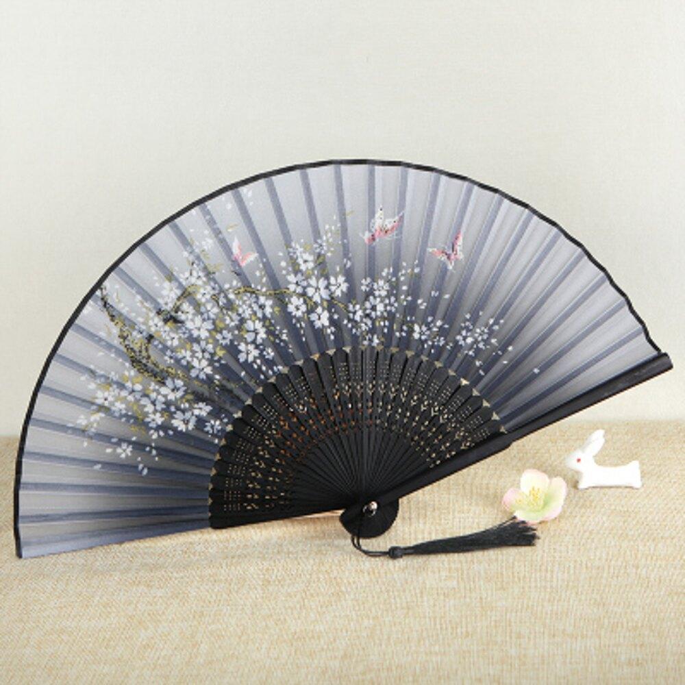 折扇 中國風風工藝古風折疊小扇女扇女式扇子絹扇