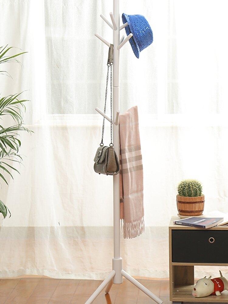 ins實木衣帽架立式網紅室內衣架房間組裝衣架落地臥室簡易省空間WD  夏洛特居家名品