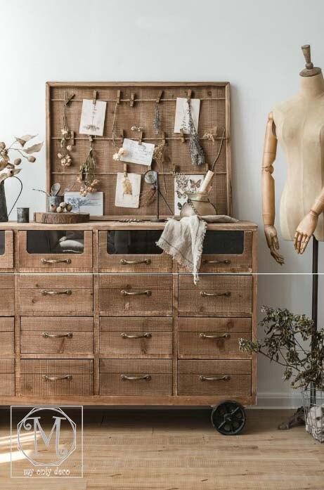 木質照片板/帶木夾麻繩裝飾板