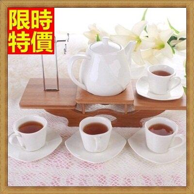 ★下午茶茶具含茶壺咖啡杯組合-4人歐式浮雕高檔創意骨瓷茶具69g68【獨家進口】【米蘭精品】