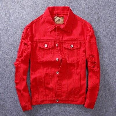 牛仔外套純色夾克-街頭時尚休閒百搭男外套4色73rj13【獨家進口】【米蘭精品】