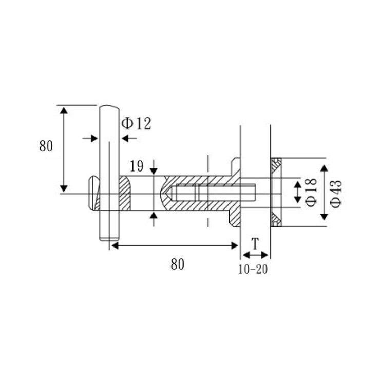 BL-A22 304材質 玻璃扶手配件(S80mm X H80mm) 固定式托架平 玻璃夾 玻璃五金 毛絲