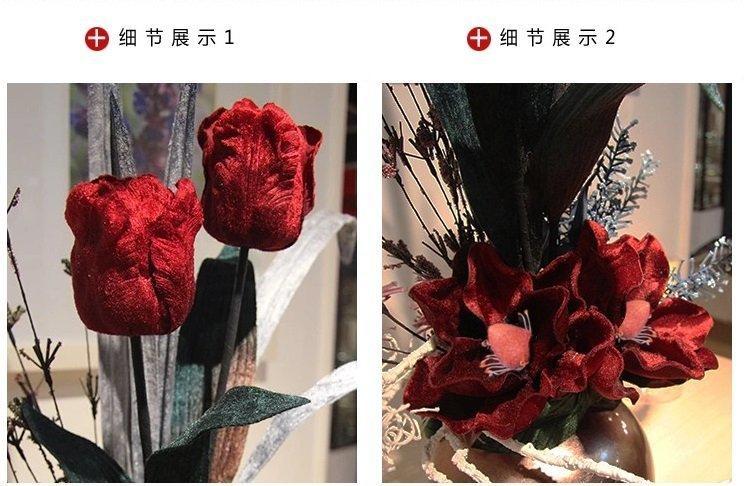 知根 仿真花歐式套裝花藝 現代時尚插花客廳家居裝飾花假花擺設花