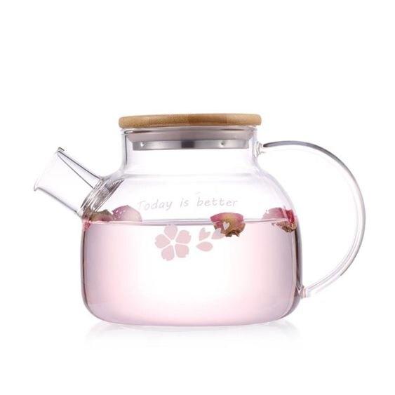 玻璃水壺vankine茶壺耐熱玻璃茶具耐高溫泡茶壺花茶壺過濾家用燒水壺套裝玻璃水壺
