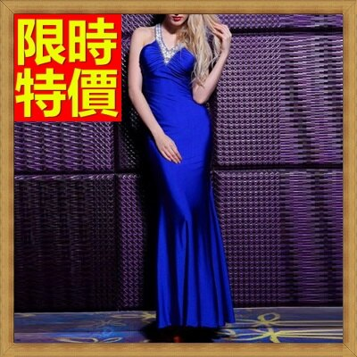 洋裝晚禮服-性感鏤空修身深V長晚宴服4色65c12【獨家進口】【米蘭精品】