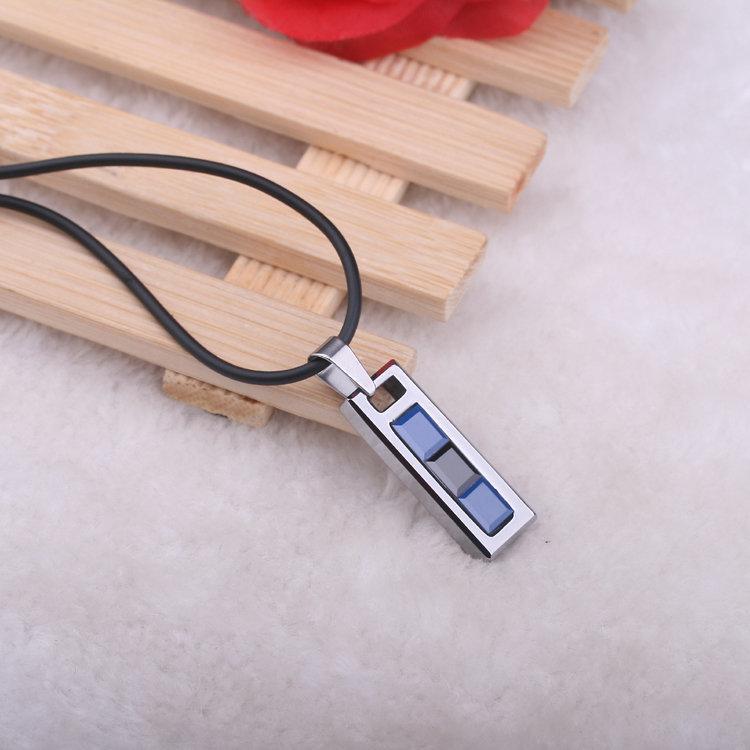 熱賣 鎢金鑲太空瓷男士吊墜 時尚項鏈 飾品刻字 不磨損不變色