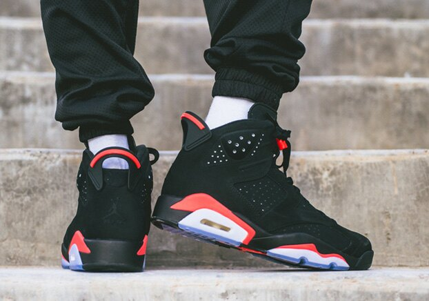 "KUMO SHOES-現貨AIR JORDAN 6 RETRO ""INFRARED"" 黑紅 紅外線 大魔王 老屁股 384665-060"