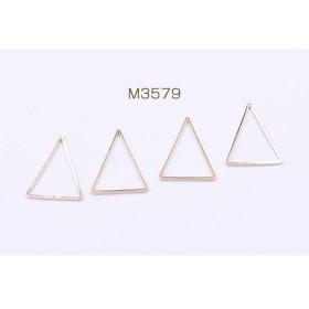 送料無料 40個 フレームパーツ 三角形 19×25mm ゴールド M3579