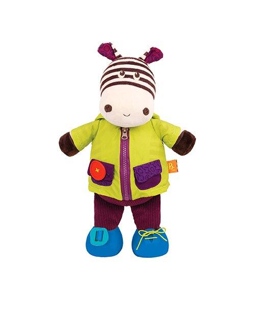 【淘氣寶寶】 美國 B.Toys 感統玩具 小斑馬拉風(學習玩偶)